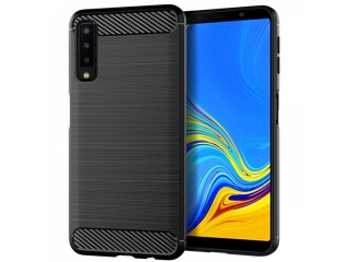 Samsung Galaxy A7 (2018) Carbon Gummi Hülle TPU Case Cover flexibel