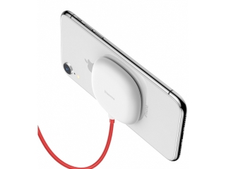 Baseus Saugnapf Qi Ladegerät Suction Cup Wireless Charger weiss
