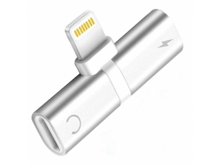 iPhone Adapter Splitter 2 in 1 Dual Lightning Audio & Ladeadapter