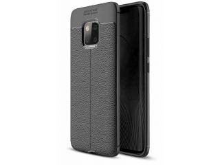 Huawei Mate 20 Pro Leder Design Gummi Hülle TPU Case Cover flexibel