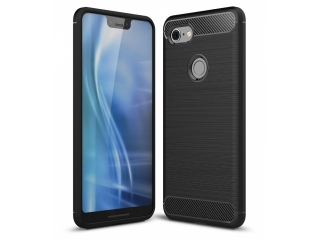Google Pixel 3 Carbon Gummi Hülle TPU Case Cover flexibel