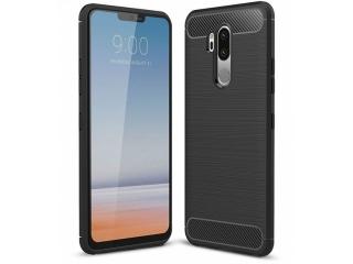 LG G7 ThinQ Carbon Gummi Hülle TPU Case Cover flexibel schwarz