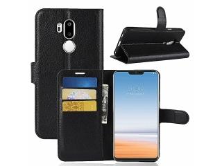 Ledertasche LG G7 ThinQ Portemonnaie Karten Etui Schutzhülle schwarz