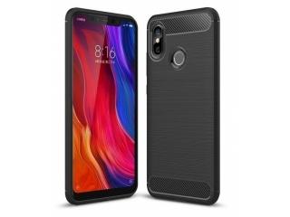 Xiaomi Mi 8 Carbon Gummi Hülle TPU Case Cover flexibel schwarz