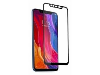 Xiaomi Mi 8 100% Vollbild Panzerglas Schutzfolie 0.23mm 2.5D schwarz