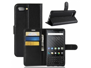 Blackberry Key2 Ledertasche Portemonnaie Karten Etui Schutzhülle