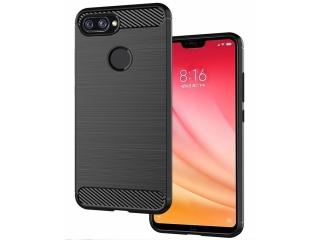 Xiaomi Mi 8 Lite Carbon Gummi Hülle TPU Case Cover flexibel schwarz