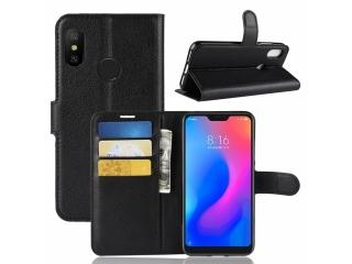 Xiaomi Redmi Note 6 Pro Ledertasche Portemonnaie Karten Etui Hülle