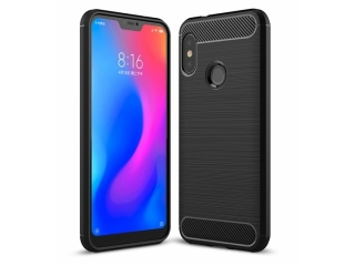 Xiaomi Redmi Note 6 Pro Carbon Gummi Hülle TPU Case Cover flexibel