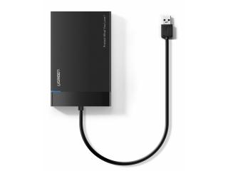 """UGREEN USB 3.0 HDD/SSD Gehäuse 2.5"""" Festplatte mit Kabel - schwarz"""