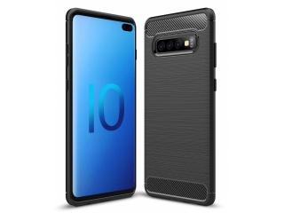 Samsung Galaxy S10+ TPU Carbon Flex Gummi Hülle Thin Softcase schwarz