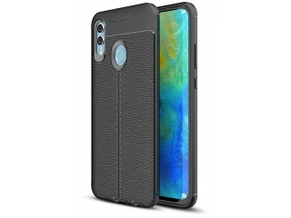Huawei P Smart (2019) Leder Design Gummi Hülle TPU Case Cover flexibel