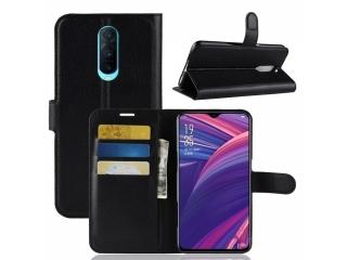 Oppo RX17 Pro Ledertasche Portemonnaie Karten Etui Schutzhülle schwarz
