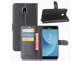 Ledertasche Samsung Galaxy J5 (2017) Portemonnaie Karten Hülle schwarz