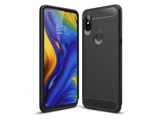 Xiaomi Mi Mix 3 Carbon Gummi Hülle TPU Case Cover flexibel schwarz