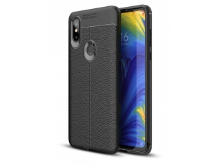 Xiaomi Mi Mix 3 Leder Design Gummi Hülle TPU Case Cover flexibel