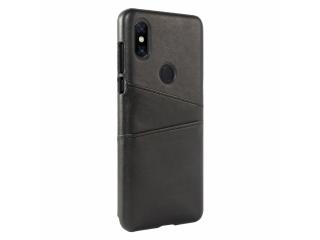 Xiaomi Mi Mix 3 Leder Case Karten Etui Schutzhülle - schwarz