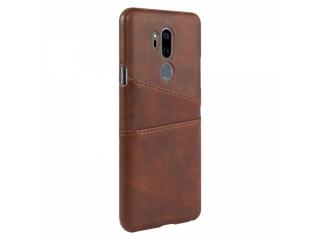 LG G7 ThinQ Leder Case Karten Etui Schutzhülle - braun