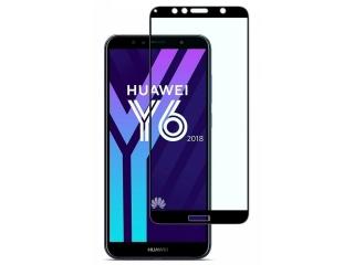 Huawei Y6 (2018) 100% Vollbild Panzerglas Schutzfolie 0.23mm 2.5D
