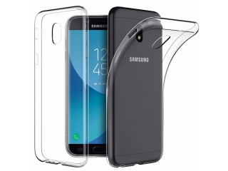 Samsung Galaxy J3 (2017) Ultra Thin Case Hülle Cover Gummi transparent