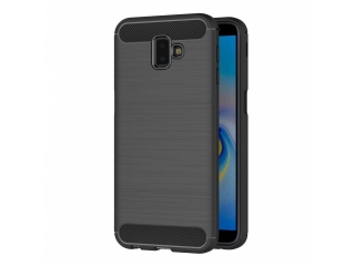 Samsung Galaxy J6+ Plus Carbon Gummi Hülle TPU Case Cover flexibel