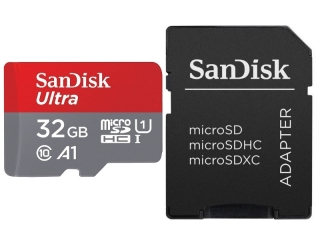Sandisk Ultra microSD A1 32GB Class 10 für Smartphones & SD-Adapter