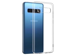 Samsung Galaxy S10 Gummi Hülle flexibel dünn transparent thin clear