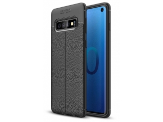 Samsung Galaxy S10 Leder Design Gummi Hülle TPU Case Cover flexibel
