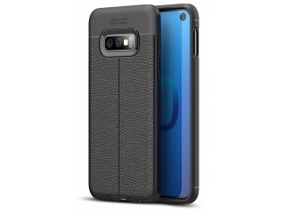 Samsung Galaxy S10e Leder Design Gummi Hülle TPU Case Cover flexibel