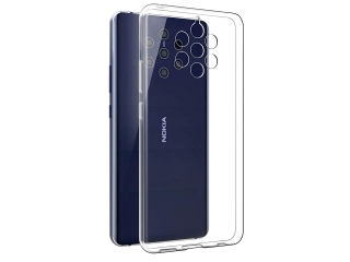 Nokia 9 PureView Gummi Hülle flexibel dünn transparent thin clear