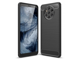 Nokia 9 PureView TPU Carbon Flex Gummi Hülle Thin Softcase - schwarz