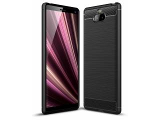 Sony Xperia 10 TPU Carbon Flex Gummi Hülle Thin Softcase - schwarz