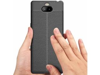 Sony Xperia 10 Plus Leder Design Gummi Hülle TPU Case Cover flexibel