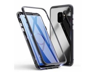 Samsung Galaxy S9+ Magnetische Alu Schutzhülle Glas Rückseite schwarz