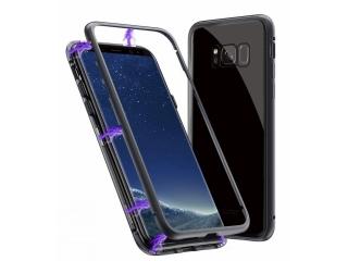 Samsung Galaxy S8+ Magnetische Alu Schutzhülle Glas Rückseite schwarz