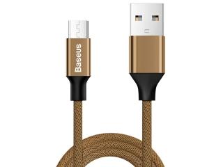 Baseus Nylonfaser Micro USB Lade Kabel und USB Datenkabel 1.5m braun
