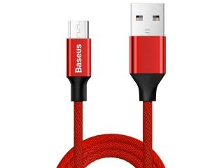 Baseus Nylonfaser Micro USB Lade Kabel und USB Datenkabel 1.5m rot