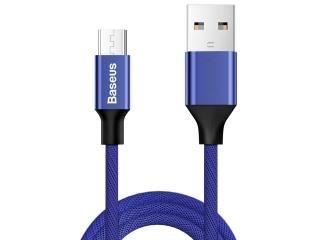 Baseus Nylonfaser Micro USB Lade Kabel und USB Datenkabel 1.5m blau