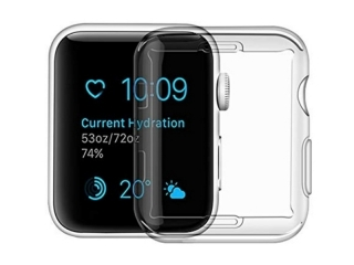 USAMS Apple Watch 44mm Full Protective Screen Soft Case 0.8mm Clear