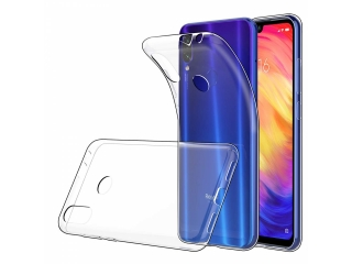 Xiaomi Redmi Note 7 Gummi TPU Hülle flexibel dünn transparent clear