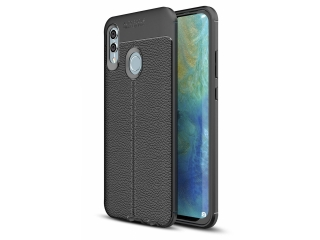 Honor 10 Lite Leder Design Gummi Hülle TPU Case Cover flexibel