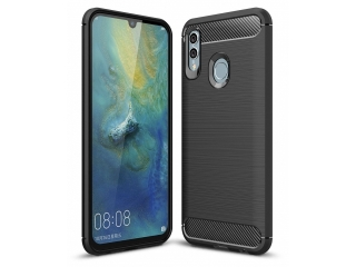 Honor 10 Lite Carbon Gummi Hülle TPU Case Cover flexibel schwarz