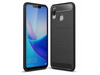 Honor Play Carbon Gummi Hülle TPU Case Cover flexibel schwarz