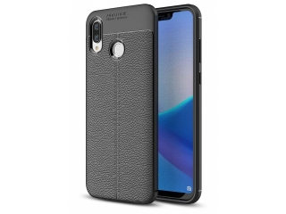 Honor Play Leder Design Gummi Hülle TPU Case Cover flexibel