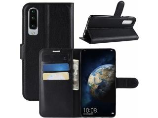 Huawei P30 Ledertasche Portemonnaie Karten Etui Schutzhülle schwarz