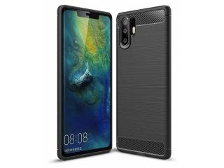 Huawei P30 Pro Carbon Gummi Hülle TPU Case Cover flexibel schwarz