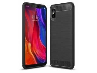 Xiaomi Mi 8 Pro Carbon Gummi Hülle TPU Case Cover flexibel schwarz