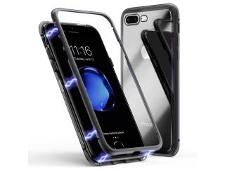 iPhone 7 Plus Magnetische Alu Schutzhülle Glas Rückseite schwarz