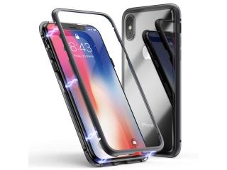 iPhone Xs Max Magnetische Alu Schutzhülle Glas Rückseite schwarz