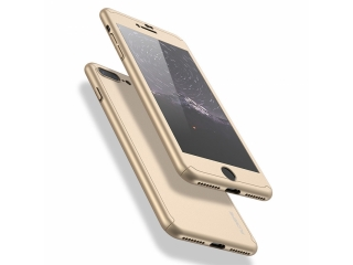 360 Grad Panzerglas Case iPhone 8 Plus Rundumschutz Floveme - gold